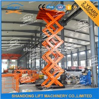 Hydraulic Scissor Type Warehouse Cargo Lift with CE