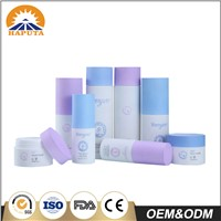 Opaque Cylindrical Cosmetic Plastic Lotion/Spray Pump Bottle & Cream Jar Sets