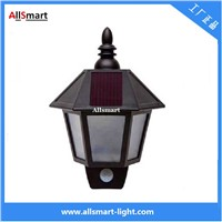 Solar Wall Lights ASC-008 Hexagonal Body Sensors Wall Lamp Wall Sconce Aisle Light Beautiful Garage Door Garden Lamp
