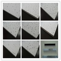 Sound Absorption Acoustic Mineral Fiber Board for Ceiling Decoration