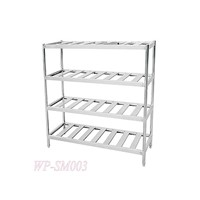 Four Layers Stainless Steel Shelf with Punched Hole