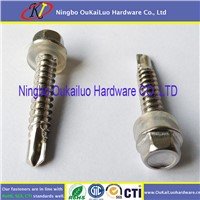 410 Stainless Steel Hex Washer Head Self Drilling Screws