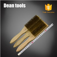 Non Sparking Brass Wire Brush Wooden Handle 8*19 Copper Alloy Wire