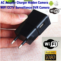 1080P HD 8GB WiFi IP Camera Spy Hidden EU/US Wall Charger Adapter Plug Camera Home Security CCTV Surveillance Nanny DVR