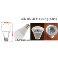 China Supplier Plastic with Aluminum 60mm Housing 7w LED Light Bulb Body Materials