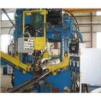 Huge Octagon Steel Tower Shut & Welding Machine In Power Transmission
