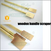Spark Resistant, Non-Magnetic, Corrosion-Resistant Hand Style Scrapers|Safety Hand Tools Wooden Handle