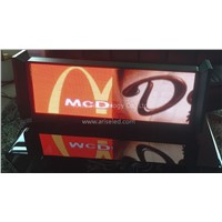 3G Wireless WiFi Taxi LED Display Full Color Double Sides Bus LED Display Screen P4 P5 P6