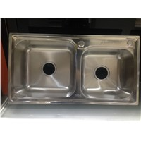 HIgh Grade Rectangular Double Bowl Stainless Steel Kitchen Sink WY-7540