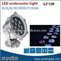 Low Voltage 12V 24V Green White Blue Projector Ip68 under Water Lamp LED Fountain Underwater Light 12W 18W