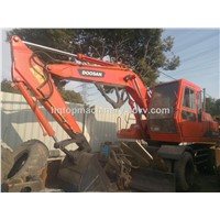 South Korea Secondhand Wheel Digger, Used Doosan WV140 DH140 Wheel Excavator
