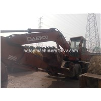 Used South Korea Wheel Excavator, Cheap Used Good Doosan DH210 WV140 DH140 Wheel Excavator Digger