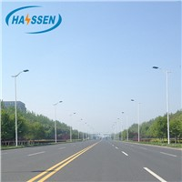 Hot Dip Galvanized Street Lighting Poles with Different Shape & Different Height with Single or Double Brackets