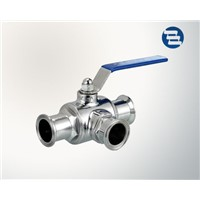 Sanitary AISI 304 316L Stainless Steel 3 Way Hygienic Ball Valve