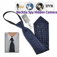1080P 8GB Necktie Hidden Camera Remote Control Wearable Covert DVR Camcorder Spy Pinhole Audio Video Recorder