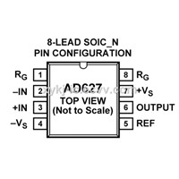 AD627BRZ ADI (Micropower, Single & Dual Supply R/R Instrumentation Amplifier)