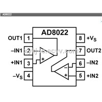 AD8022ARZ ADI (Dual High Speed, Low Noise Op Amp)
