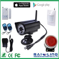 High Quality PIR Night Vision Camera Security System Wireless GSM Alarm System