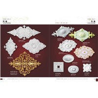 Polyurethane PU Ceiling Medallions Wall Decoration