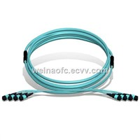Fiber Optic Patch Cord MPO-MPO 96 Cores Fibers OM3 Multimode LSZH