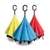 New 2017 Inventions Fashion Double Layer Reverse Umbrella Inverted Inside Out