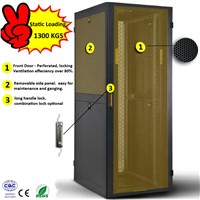 "19"" Network Cabinet Server Rack with 1300 KGS Loading Capacity"