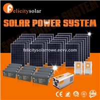 Complete Set Domestic Clean Safe Energy High Power 10kva off Grid PV Solar System for Generating