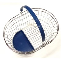 Metal Oval-Shaped Shopping Basket, Wire Basket