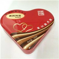 Heart Shape Chocolate Tin Box, Candy Tin Box