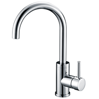 Brass Kitchen Sink Faucet Chrome Plated Mixer Tap