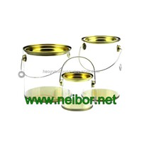 Cylindrical Shape Clear PVC PET Bucket Plastic Pail Round Tube with Tin Lid & Bottom