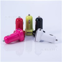 Dual Ports 5V2.4A Mobile Car Charger for Mobile & Tablet