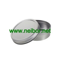 4oz(120grams) Silver Plain Seamless Round Candle Tin Container with Twist Cap