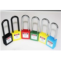 Colorful Safety Long Steel / Nylon Shackle Xenoy Padlock