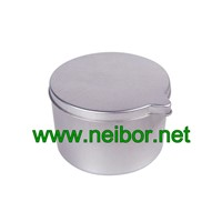 Silver Color Deep Drawn Seamless Candle Tin Jar with Spout Lid 90ml 100ml