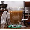Double Walled Thermal Coffee Glass Shot Tumbler Espresso Cup Glasses