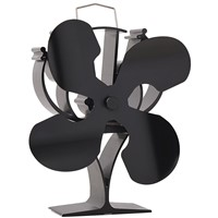 Heat Powered Stove Fan for Fireplace Wood Burner Stove with 4 Blade
