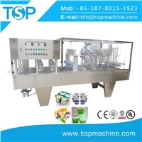 2017 New Design Roll Film Cup Filling & Sealing Machine for Juice/Jelly/Water