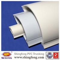 PVC Arc Floor Half Round Cable Trunking