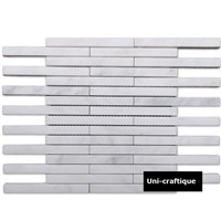 Long Strip White Marble Mosaic for Wall Decorating