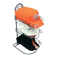 Metal Wire Black Countertop Cap Display Racks for Sports Store