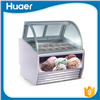 Best Price Curved Shape Ice Cream Display Freezer -25~0 Degree Ice Cream Display Showcase
