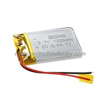 Lipo Battery 803040 3.7V 1000mAh with PCB Rechargeable Li-Polymer Battery