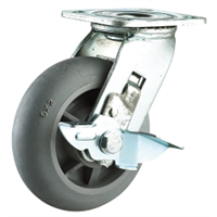 Heavy Duty Double Ball Bearing TPR Caster