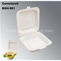 High Capacity Biodegradable Cornstarch Fast Food Disposable Lunch Box