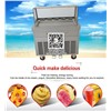 1 Square Pan 5 Boxes Thailand Fried Ice Cream Machine, Fruit Ice Cream, Roll Ice Cream Maker with Temperature Control