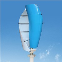 100W Small House Wind Turbines 12V/24V Vertical Axis Wind Generator System with Solar Panel