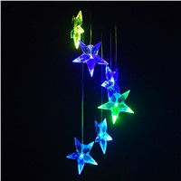 Multi-Color Solar Wind Spinner Outdoor Color Changing LED Solar Powered Wind Chimes Mobile Light Star
