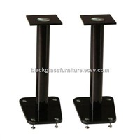 Tempered Glass Speaker Stand Audio Rack