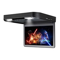 Ultra-Thin Design 13.3 Inch Flip Down Car DVD Player with USB/SD IR/FM Transmitter HDMI Wireless Game